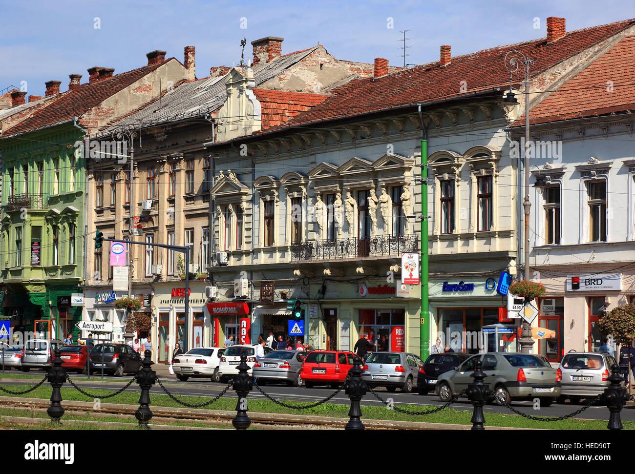 Arad Rumänien stadtzentrum häuser machen des boulevard der revolution stadt arad