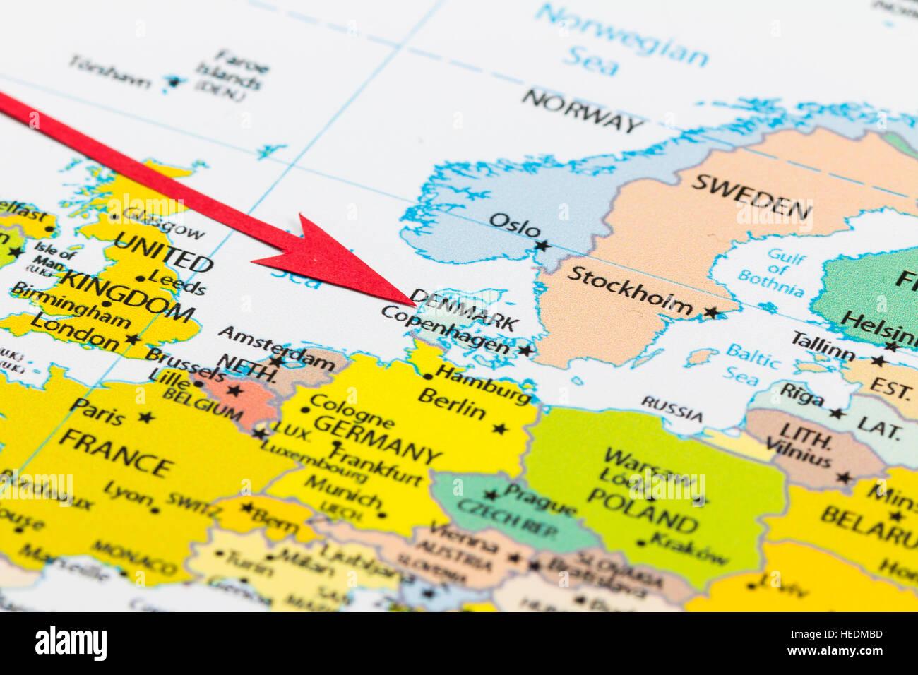 Denmark Europe Map Stockfotos & Denmark Europe Map Bilder ...