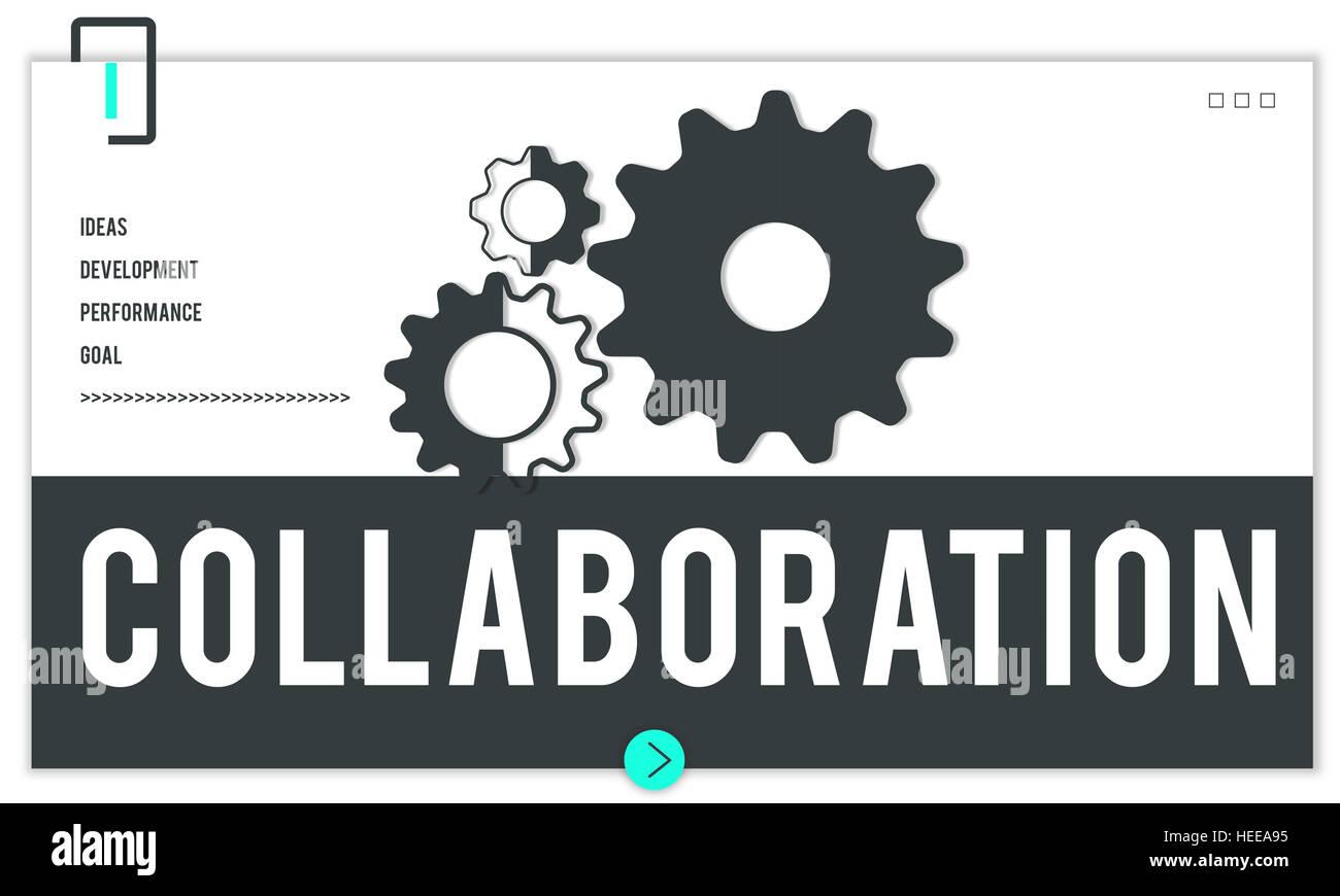 Führung Partnerschaftskonzept Zusammenarbeit Team Stockbild
