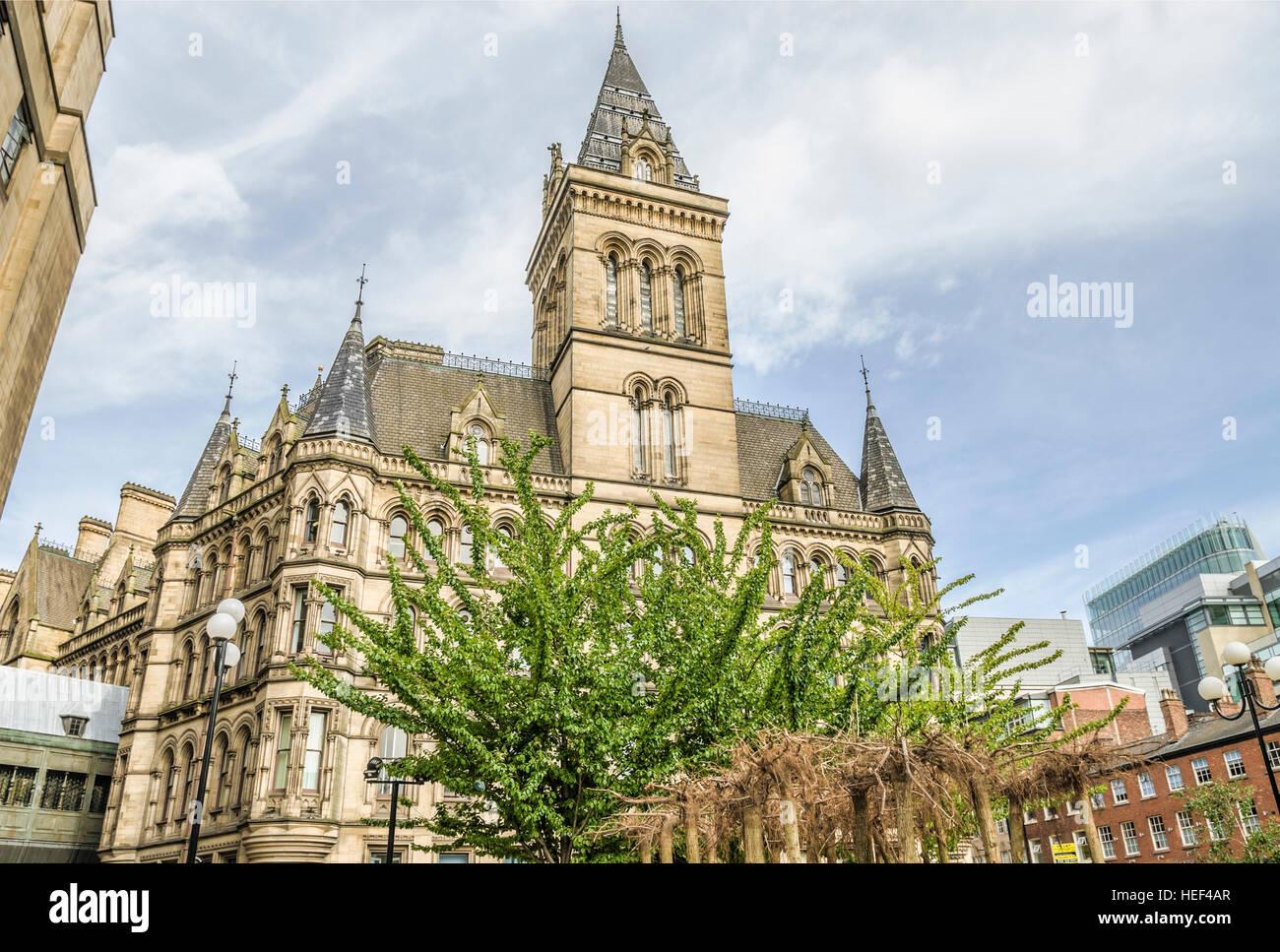 Manchester Town Hall ist ein Gebäude in Manchester, England, die Manchester City Council beherbergt. Stockbild