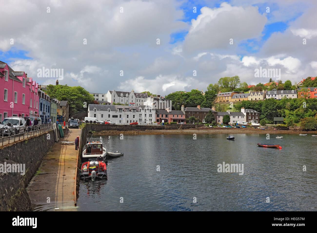 Schottland, Die Inneren Hebriden, Isle of Skye, Stadt Portree ...