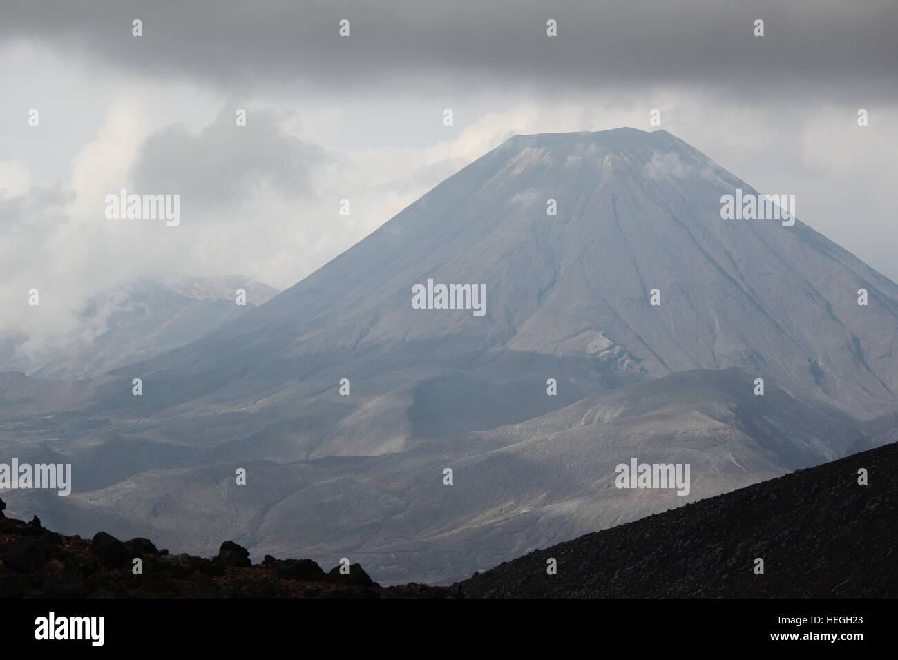 Vulcano Mount Doom in Neuseeland von Lord of the Rings Filme Stockbild