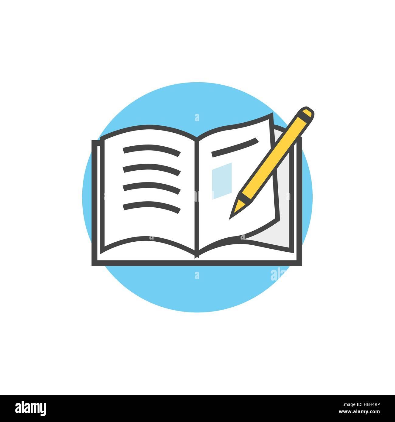 Zurück zu Schule Symbol Buch Bleistift. Schulbedarf, Buch und Stift ...
