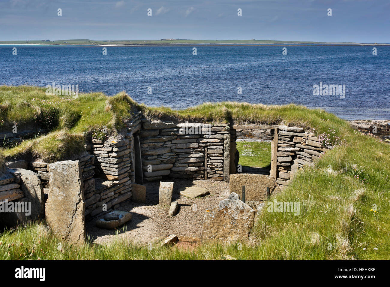 Papa Westray; Knap von Howar; Orkney; Schottland; UK Stockbild