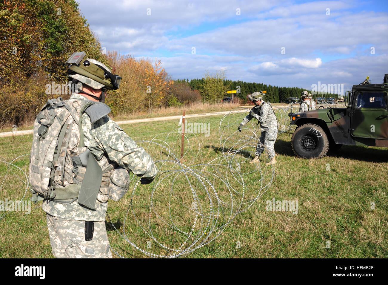 Soldaten der US Army, von 2. Kavallerie-Regiment, Rollup Constantia ...