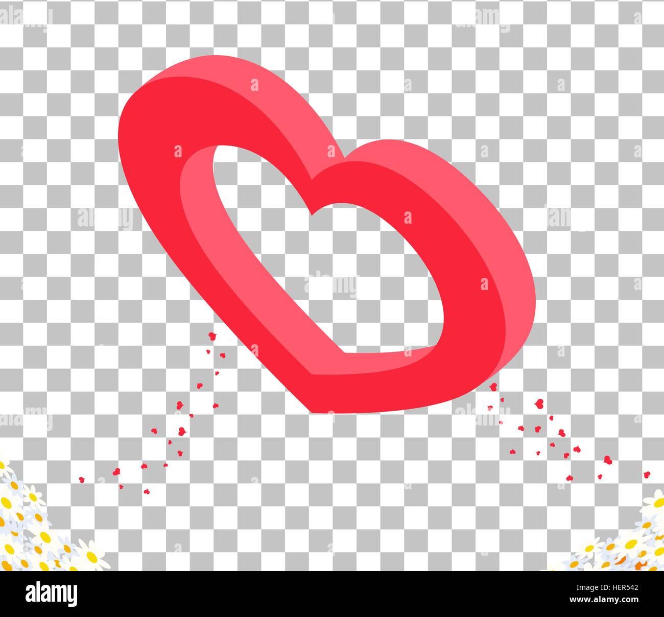 Isomitric 3d Herzdesign Valentine Tag. Valentine Herzen, Tag Liebe ...