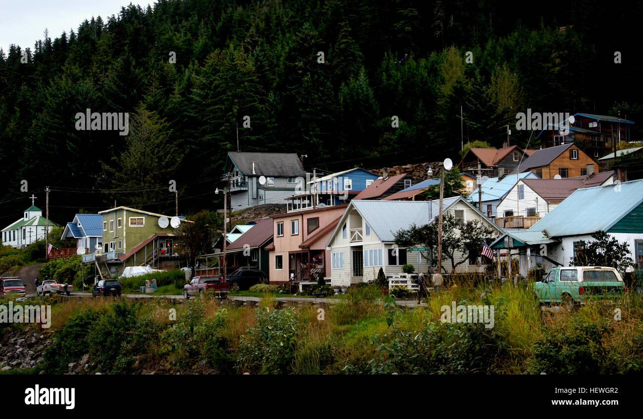 Hoonah Alaska Ist Eine Kleine Stadt Von 760 Einwohner Auf Chichagof