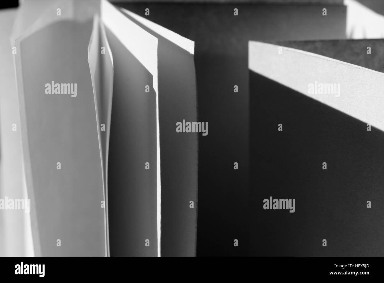 Abstrakte schwarz-weiß Serie Stockfoto