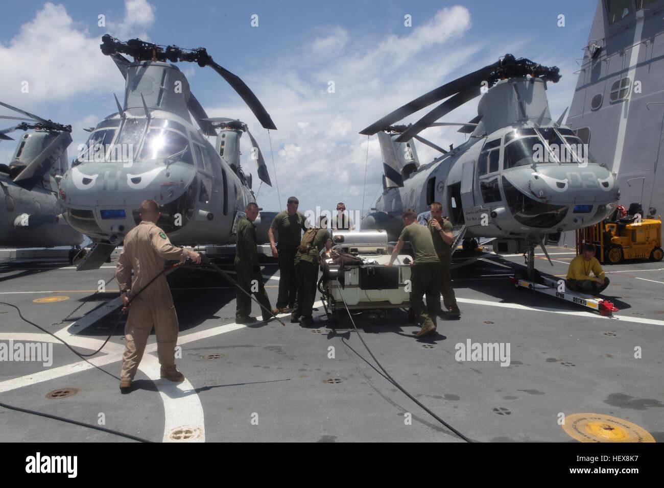 Pazifischen Ozean an Bord USS GREEN BAY (LPD-20)-Luftfahrt-Betreuer ...