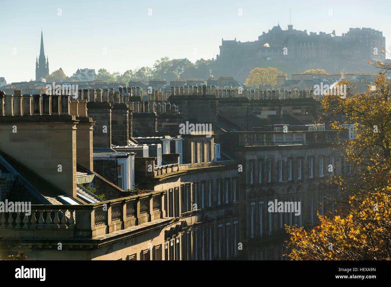 Dächer von Edinburgh, Schottland Stockfoto