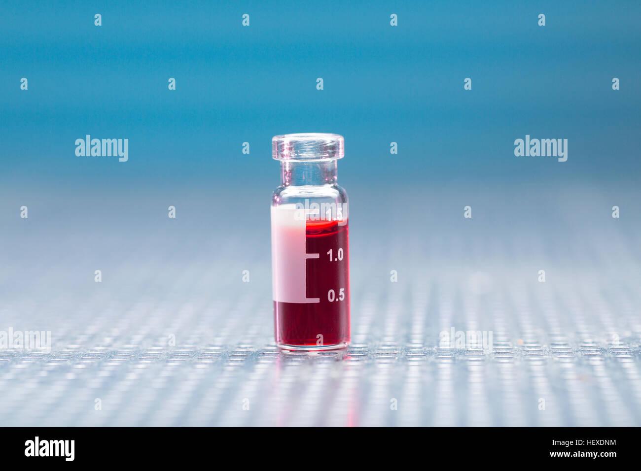 Virologie Reagenzglas, Nahaufnahme. Stockbild