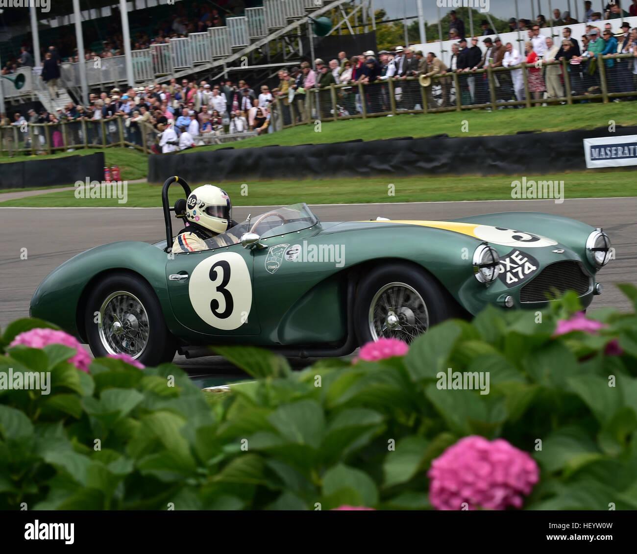 Aston Martin DB3S, Freddie März Memorial Trophy, Sports Racing Cars, Steve Boutlbee Brooks, Goodwood Revival Stockbild