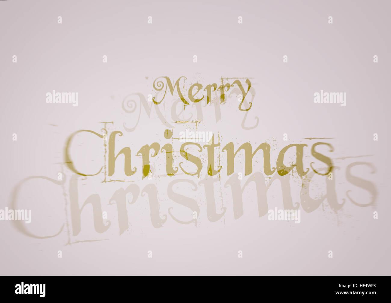 Frohe Weihnachten, weißer Hintergrund, gelb-grüne Buchstaben ...