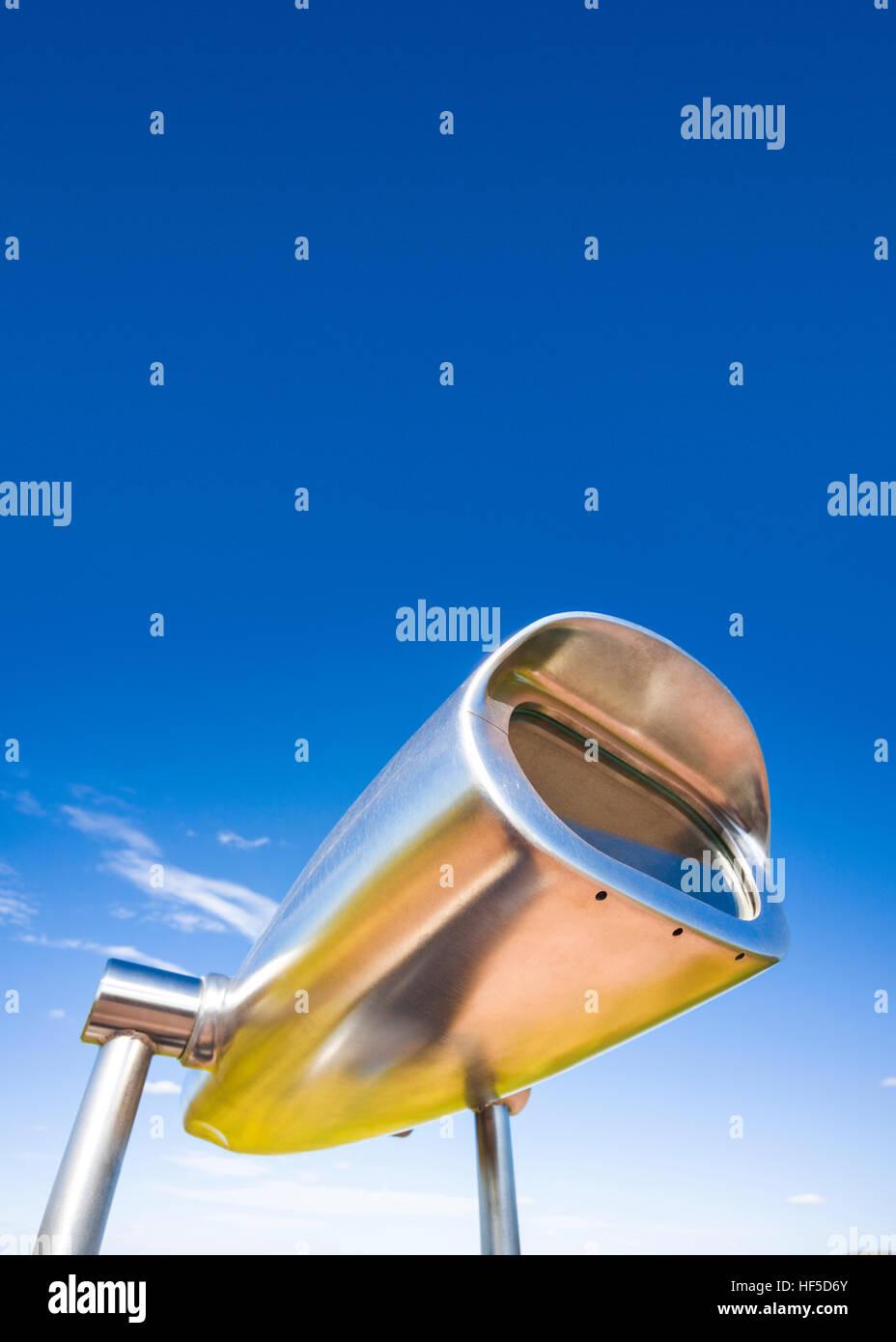Fernglas Hi-Spy Münz Betrachtung Bereiche, Teleskope. Stockbild