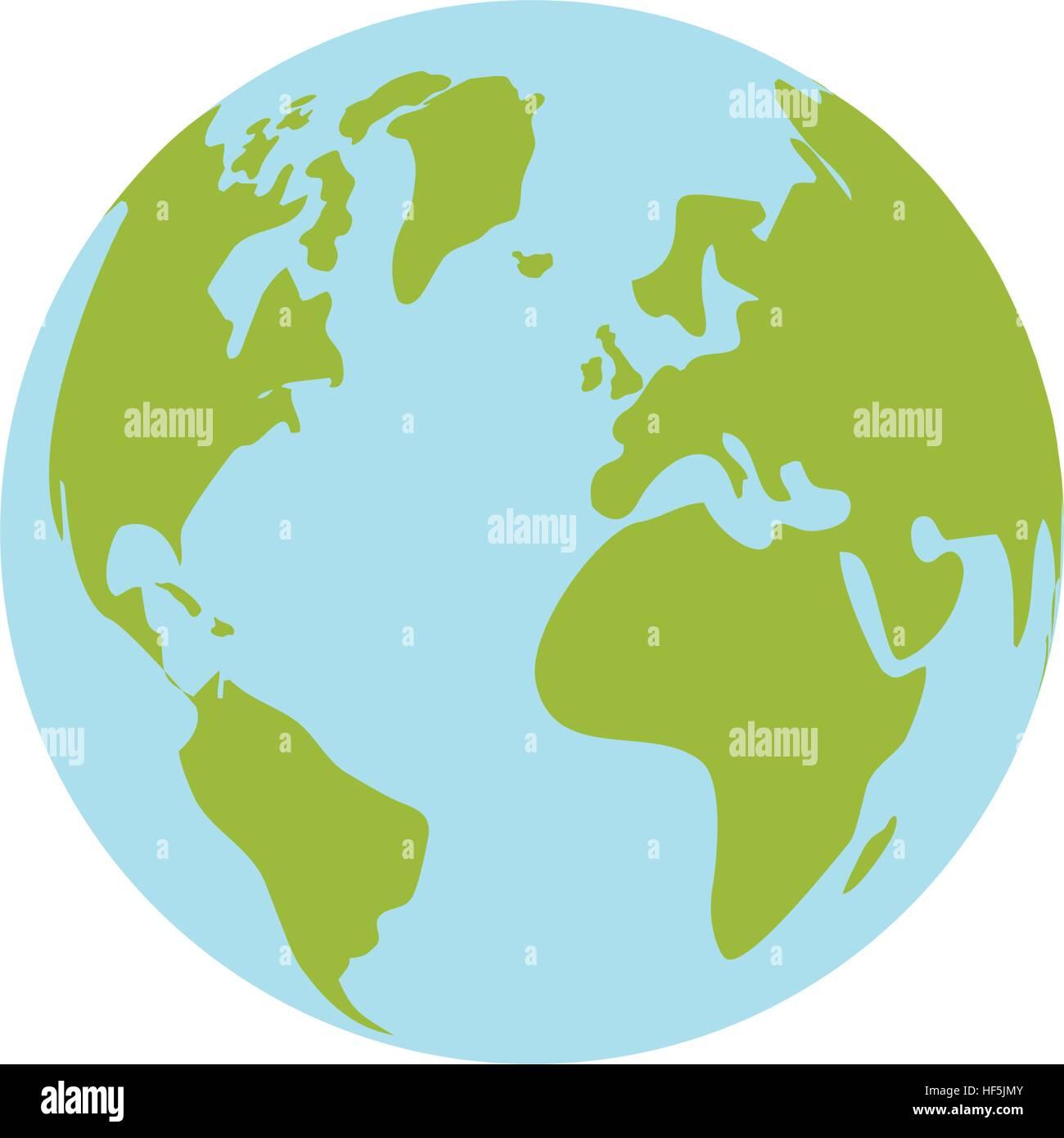 Isolierte Welt Erde Stockbild