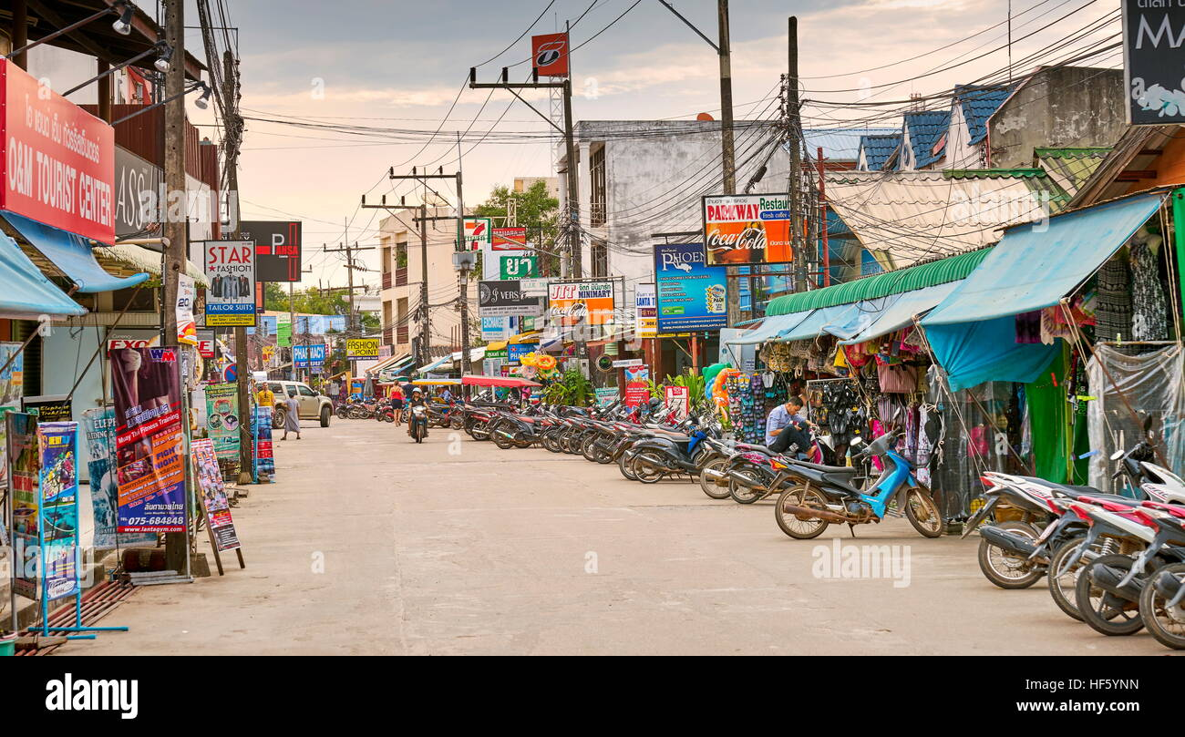 Saladan Village, Ko Lanta Island, Thailand Stockbild