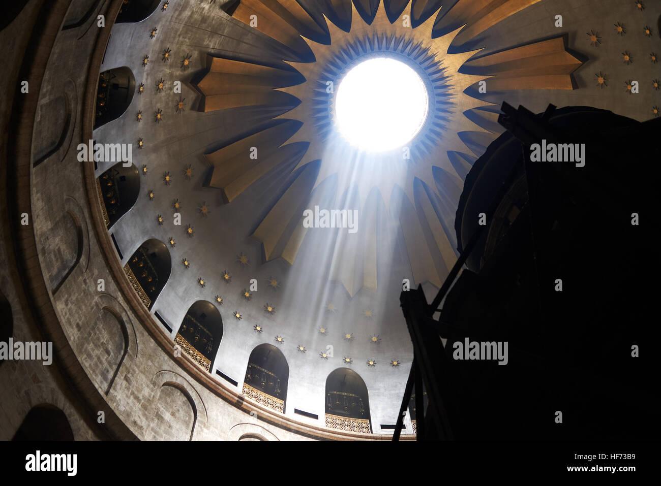 5. Mai 2016 Kirche des Heiligen Grabes, Jerusalem, Israel Stockbild