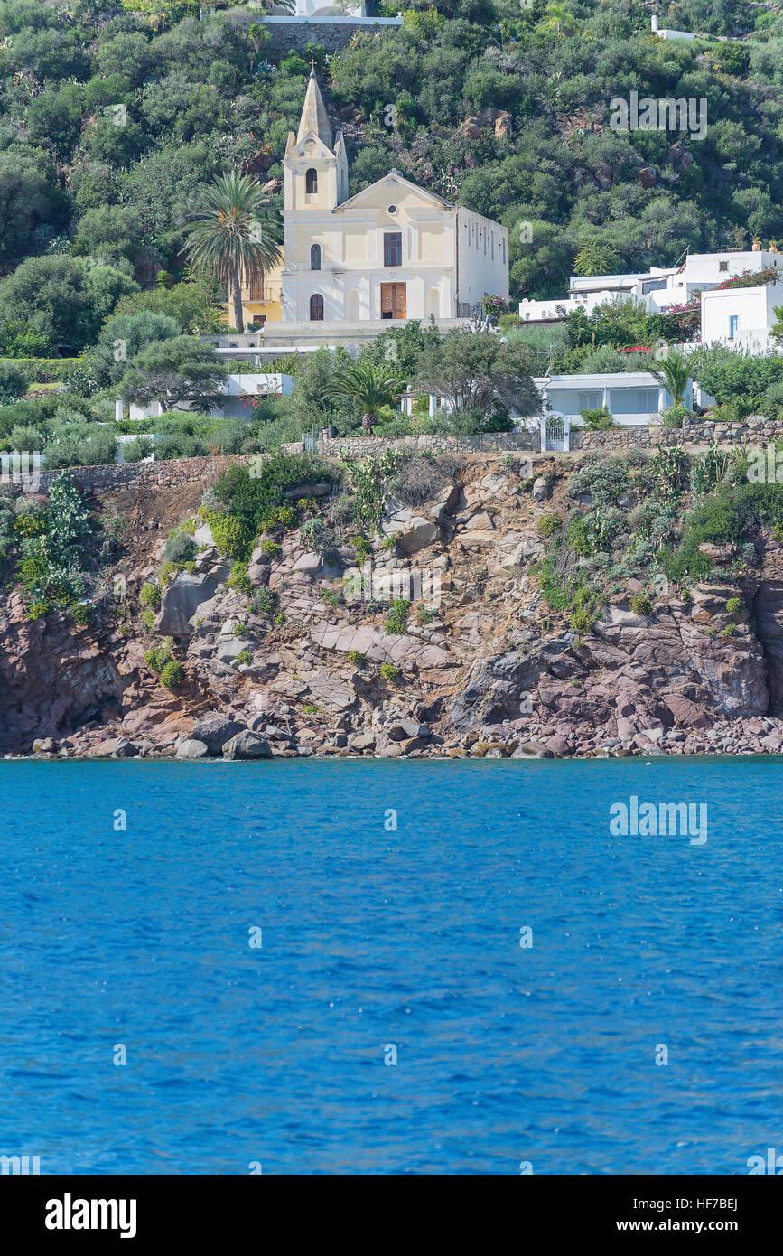 Die Insel Panarea, Panarea, Äolische Inseln, Sizilien, Italien, Europa, Stockbild