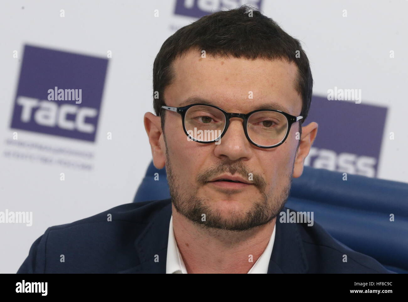 Moskau, Russland. 28. Dezember 2016. Nikolai Gudkov, Sprecher des ...