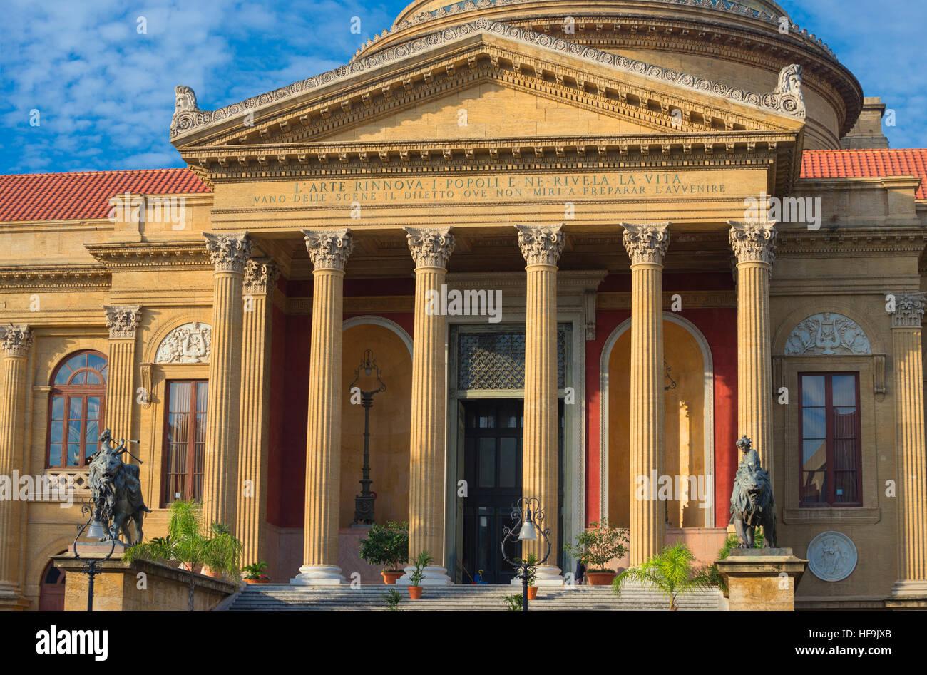 Teatro Massimo, Palermo, Sizilien, Italien, Europa Stockbild