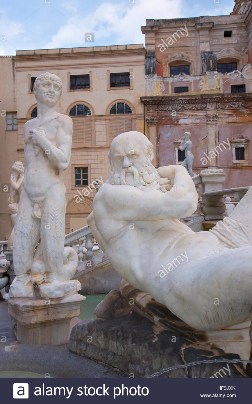 Piazza Pretoria, Palermo, Sizilien, Italien, Europa, Stockbild