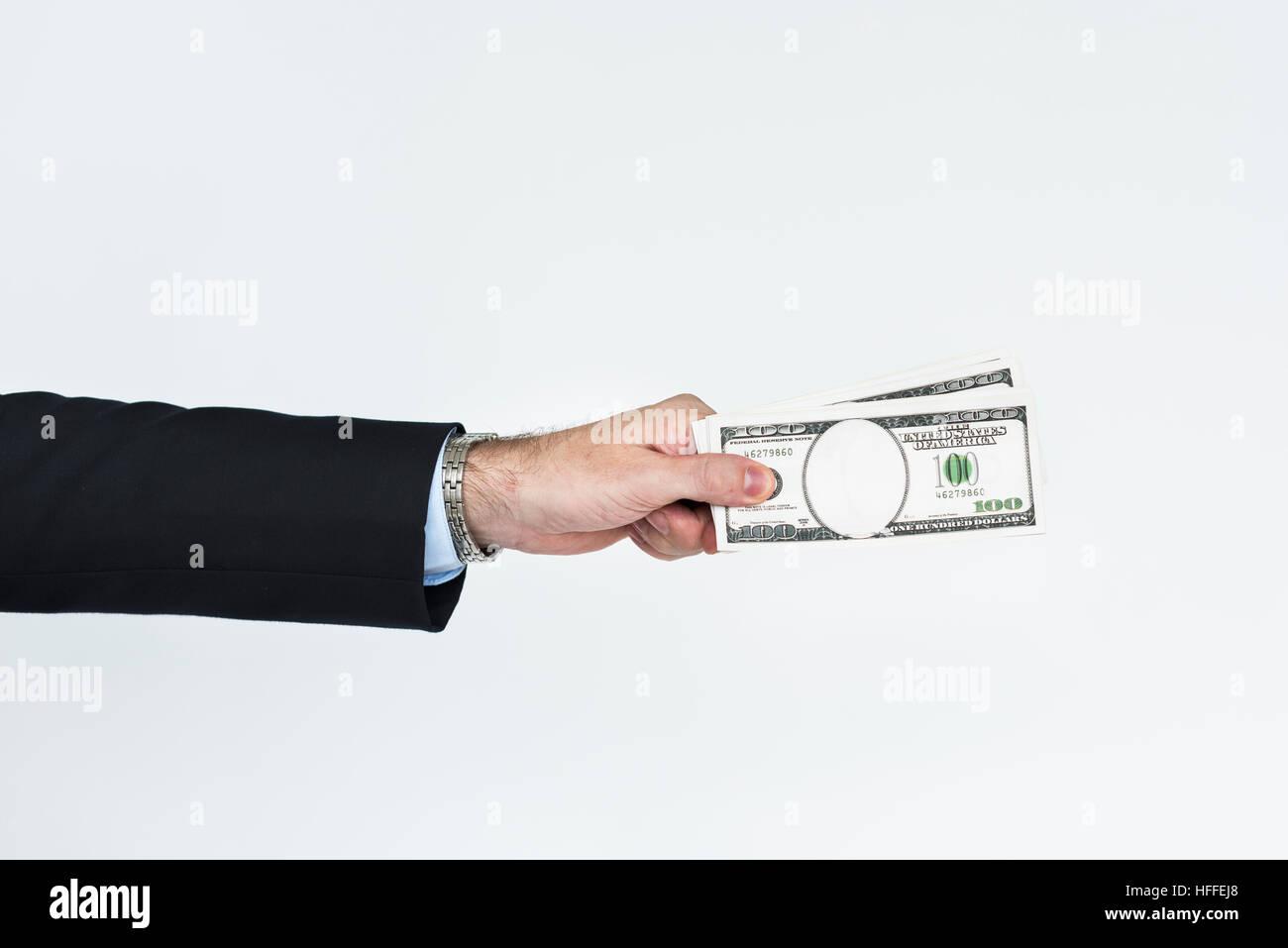 Männliche finanzierenden Bank Geschäftskonzept Stockbild