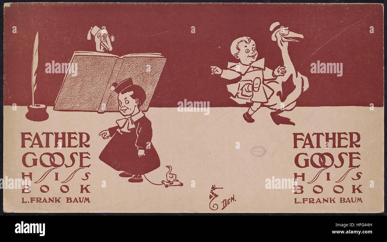 Vater Gans, sein Buch, L. Frank Baum Stockbild