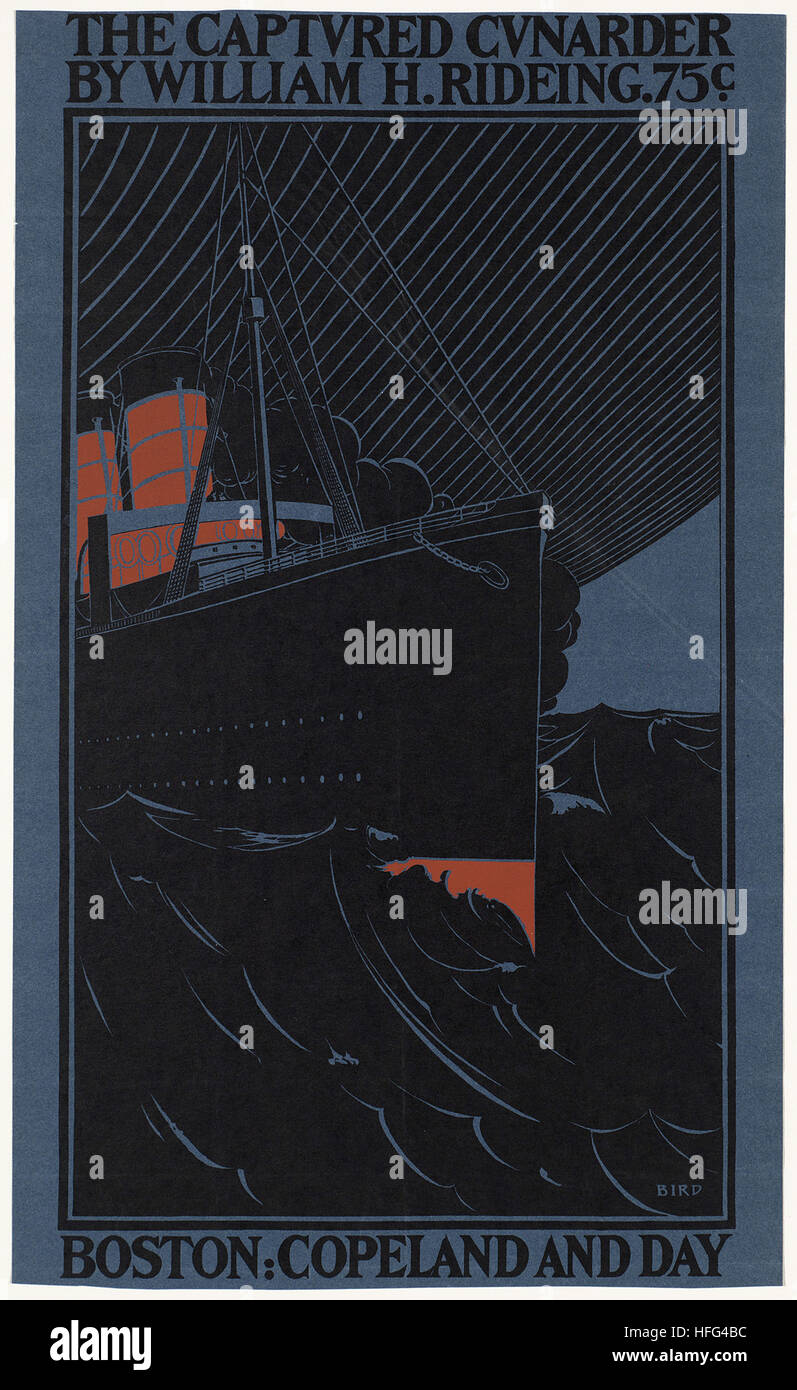 Die erfassten Cunarder durch William H. Rideing Stockbild