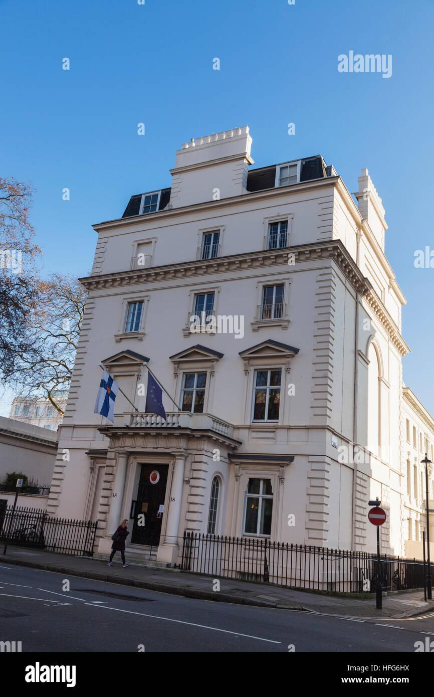 Botschaft von Finnland, Chesham Place, London Stockfoto