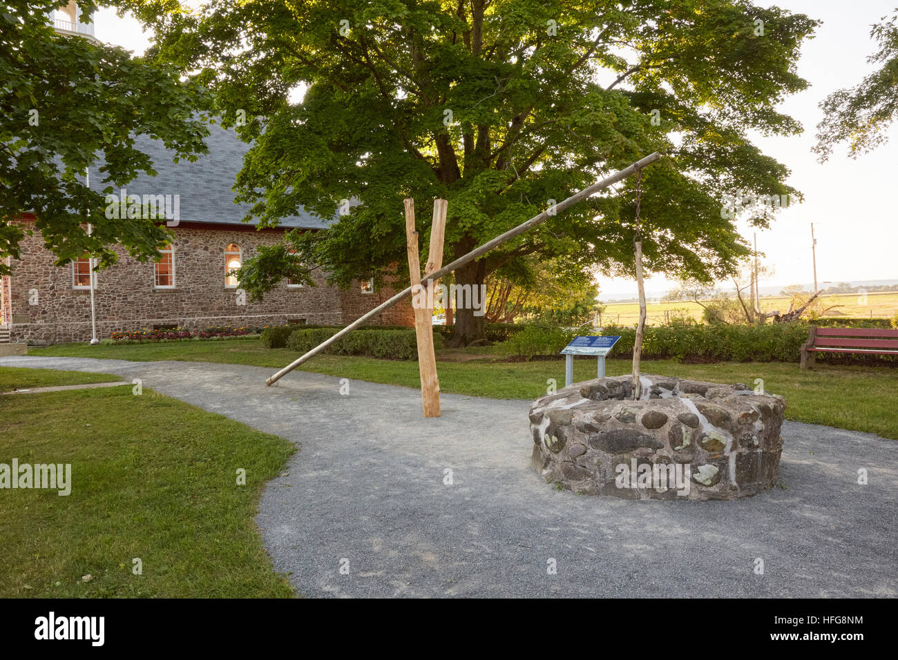 Wasser gut, Grand Pre, Annapolis Valley, Nova Scotia, Kanada Stockbild