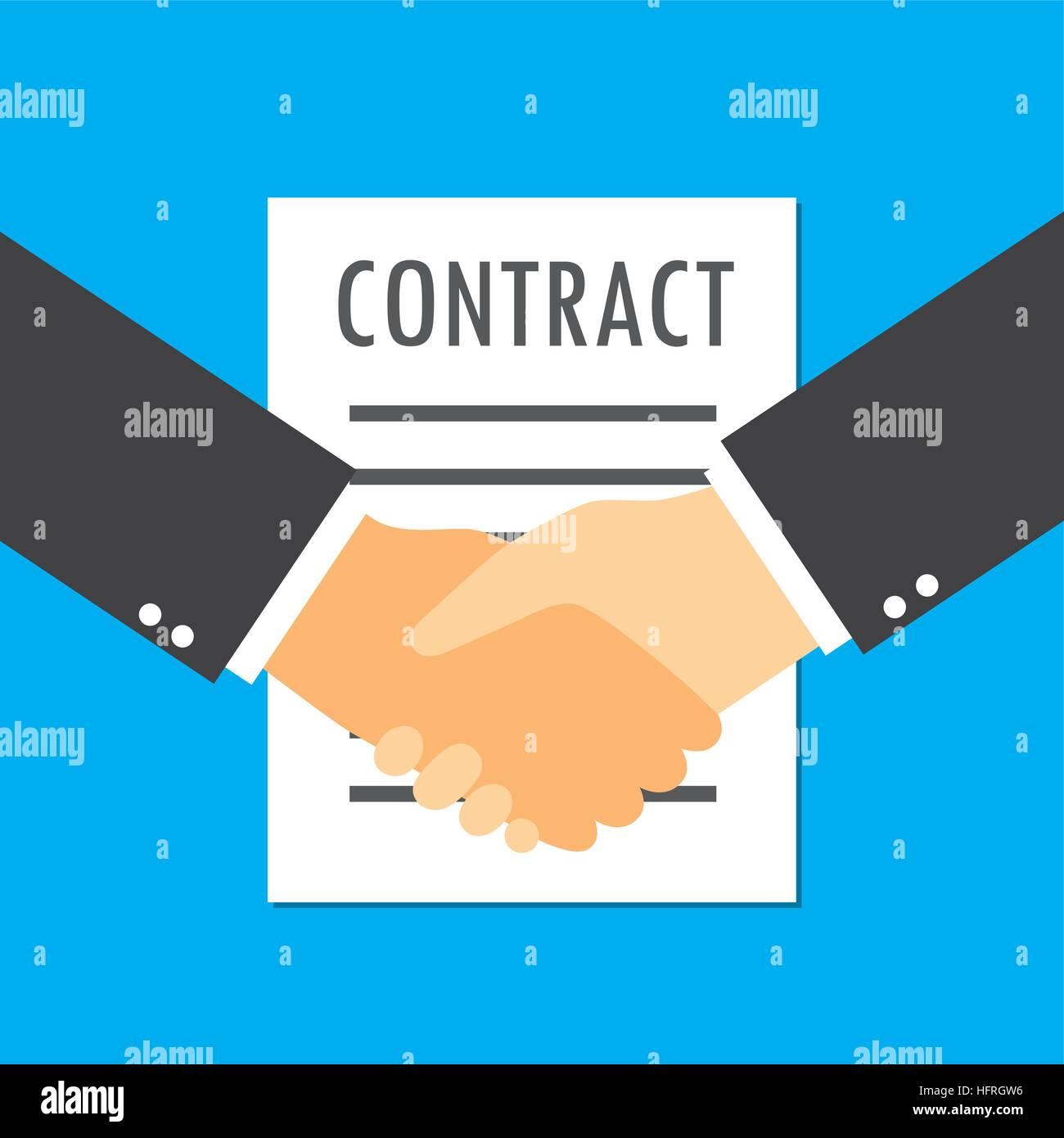 Zwei Geschäftsleute Handshake für Business Vertrag Vereinbarung Deal ...