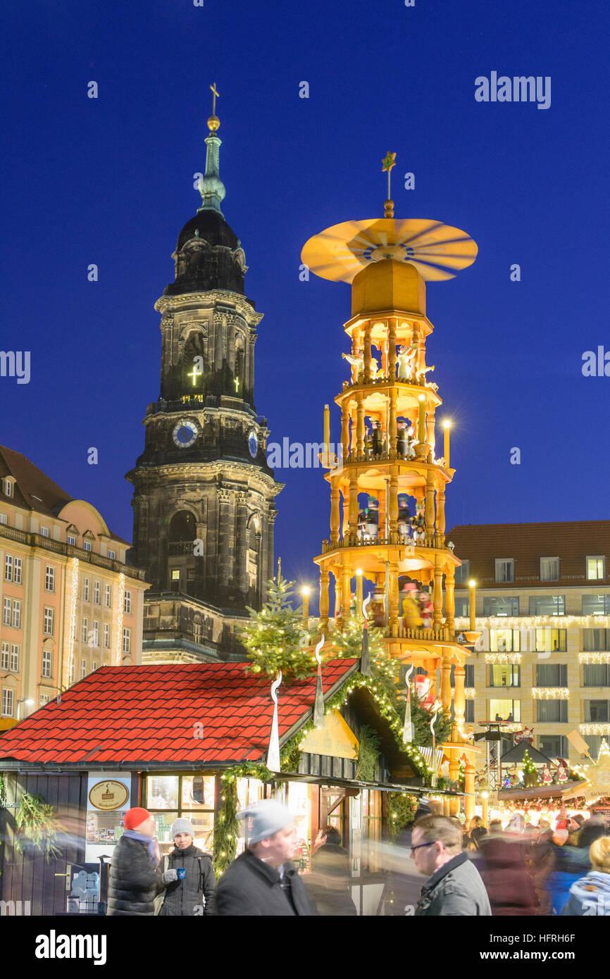 Dresden Weihnachten.Dresden Weihnachten Markt Striezelmarkt Am Altmarkt Kirche