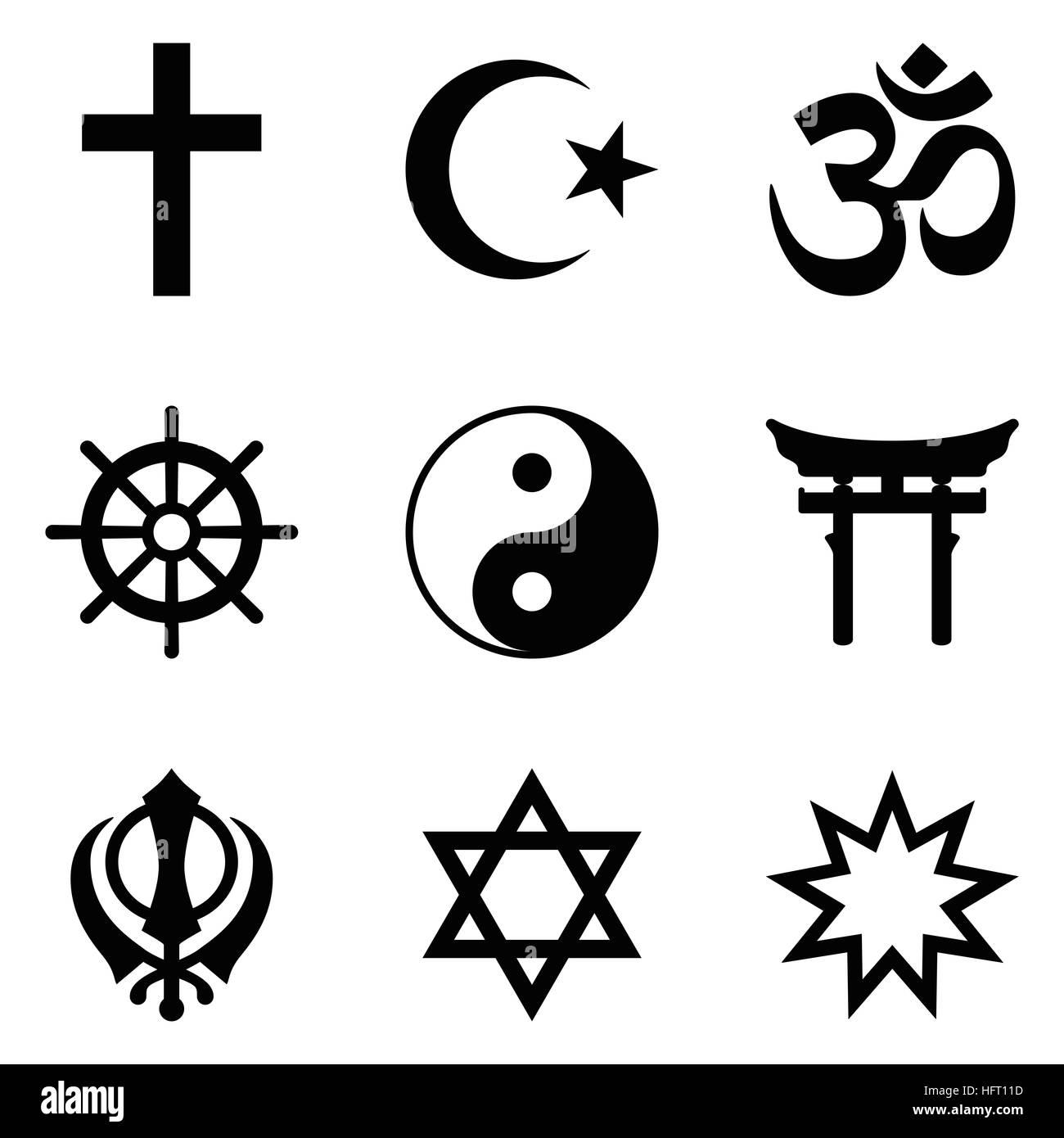 Symbole Der Weltreligionen