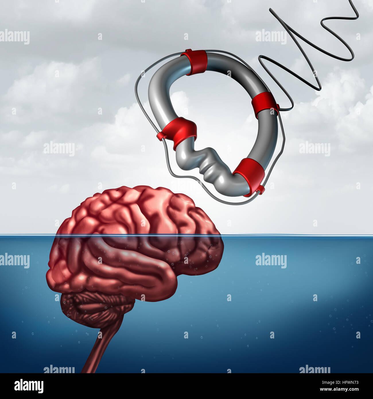 Psychologie, geben Hilfe Konzept und Psychiatrie Beratung Behandlung oder Neurologie Forschung als eine psychische Stockbild