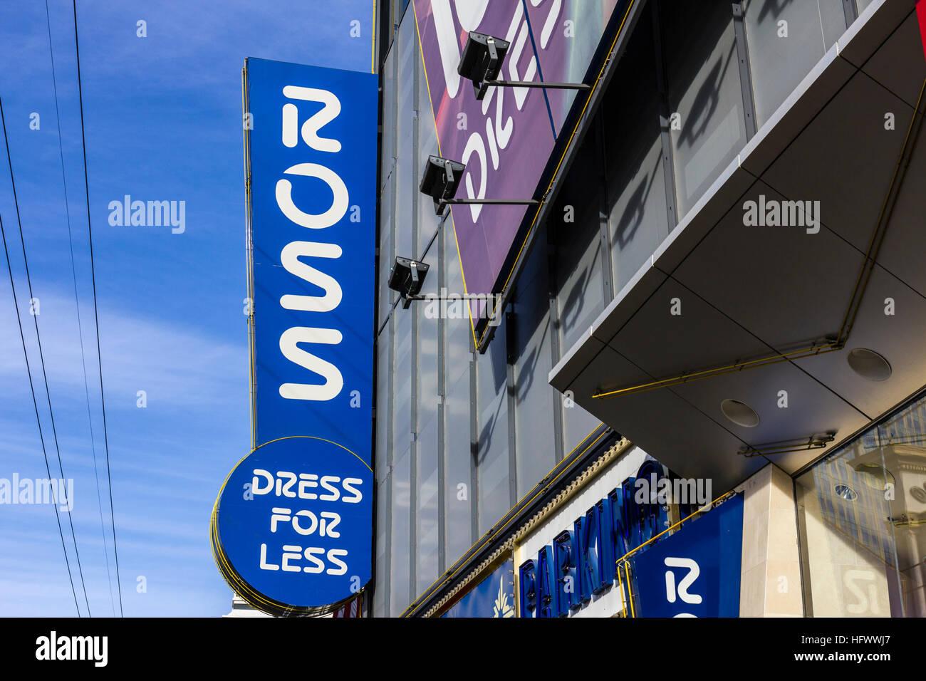 Las Vegas Ca Dezember 2016 Ross Dress For Less Retail Store Auf