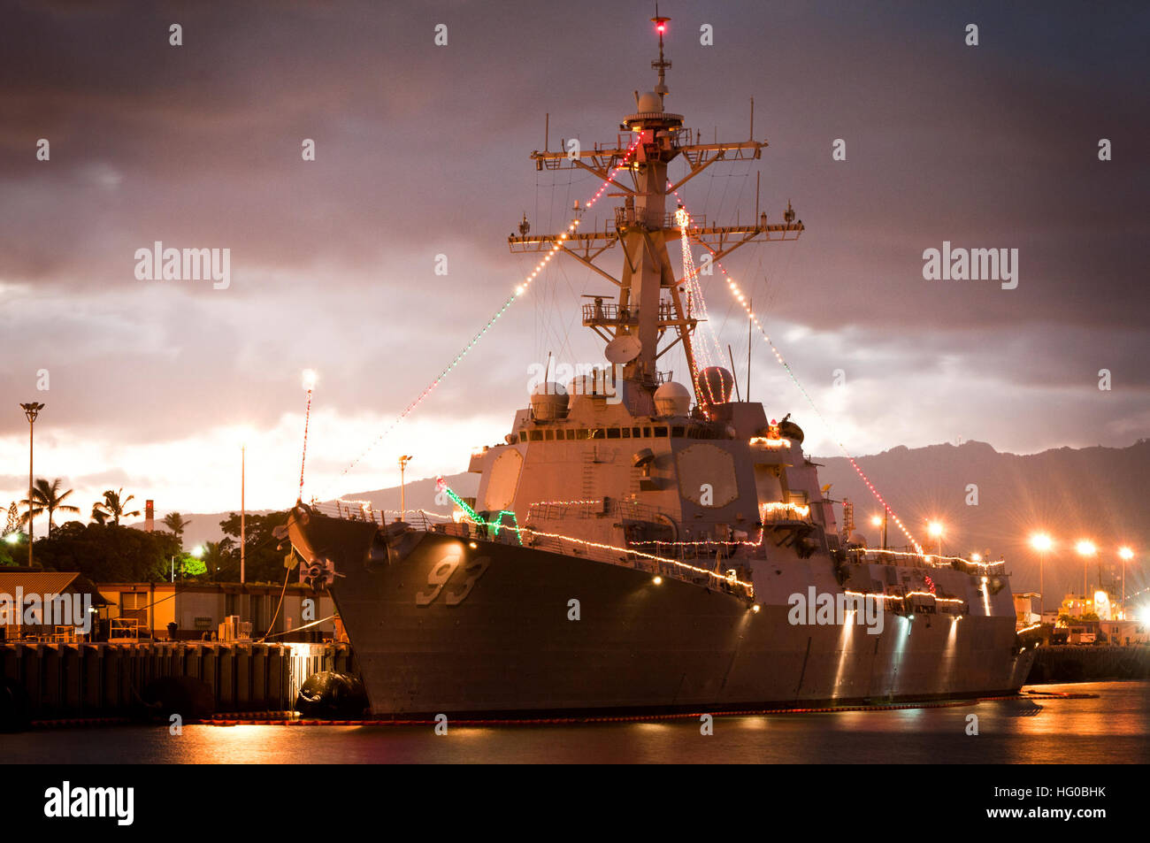 Pearl Weihnachtsbeleuchtung.U S Navy Released Joint Base Pearl Harbor Hickam Stockfotos U S