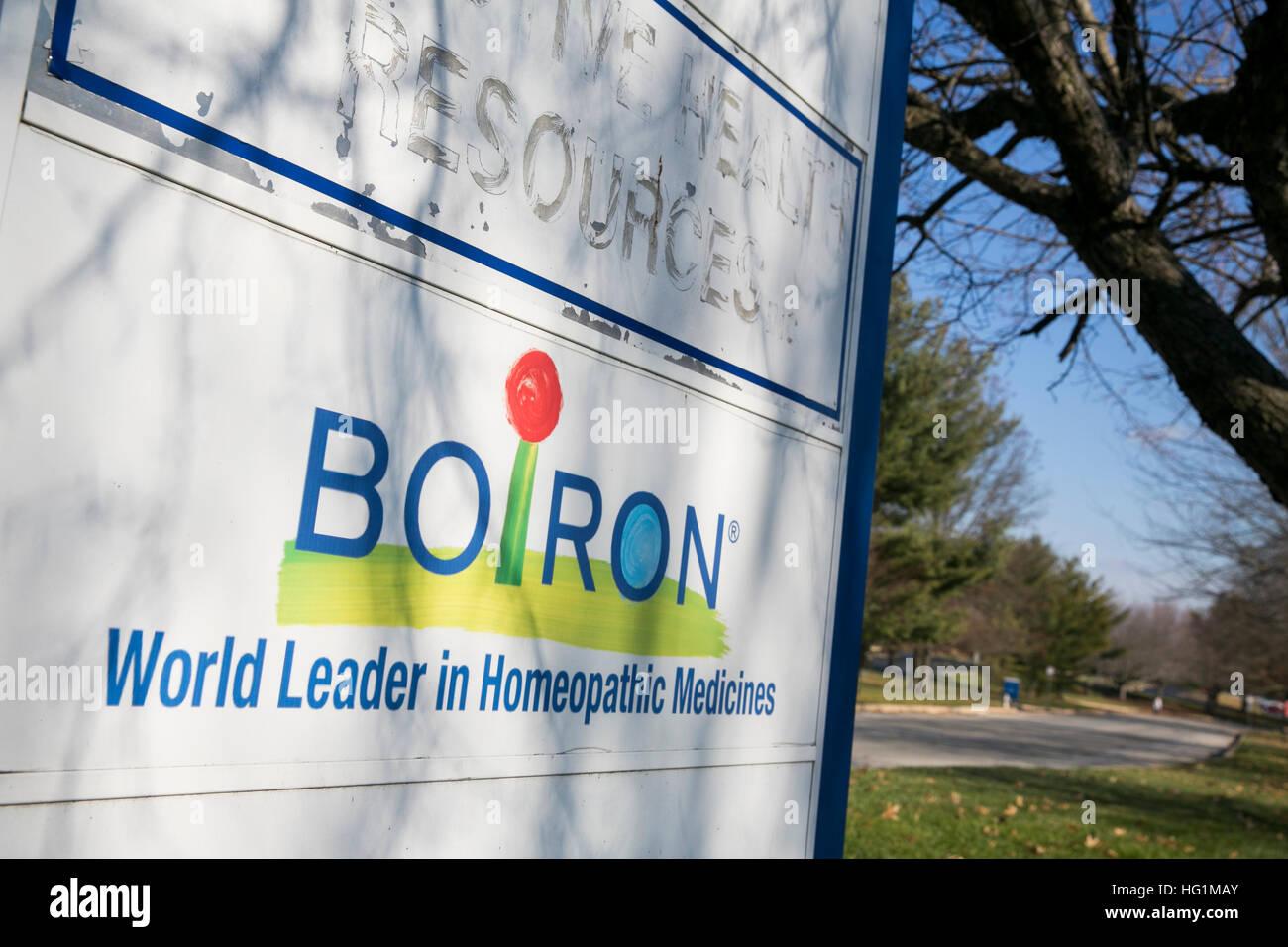 Ein Logo Zeichen außerhalb einer Einrichtung von Boiron in Newtown Square, Pennsylvania am 10. Dezember 2016 Stockbild