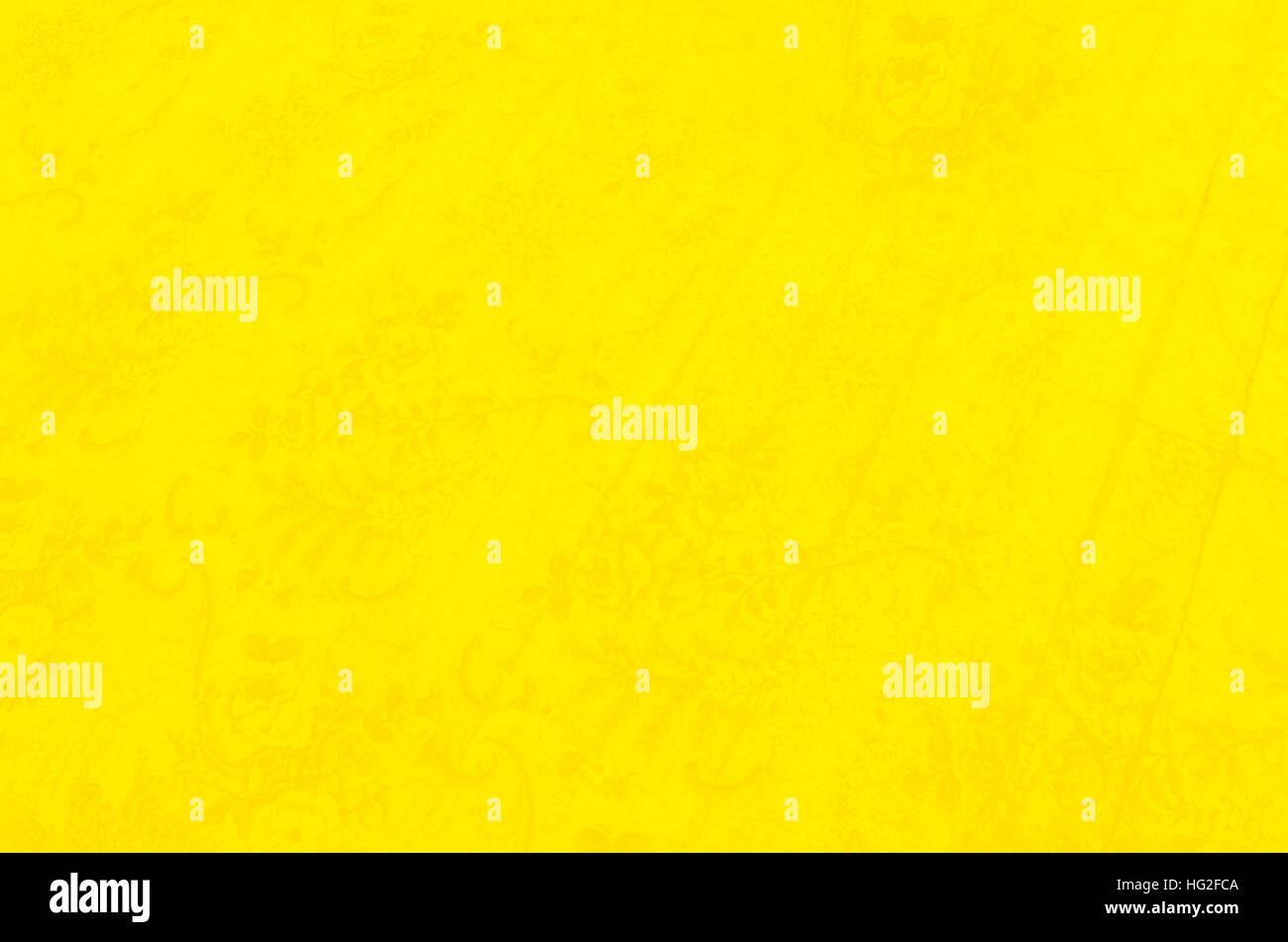 Hellen, gelben Hintergrund mit einem feinen Blumenmuster Stockbild