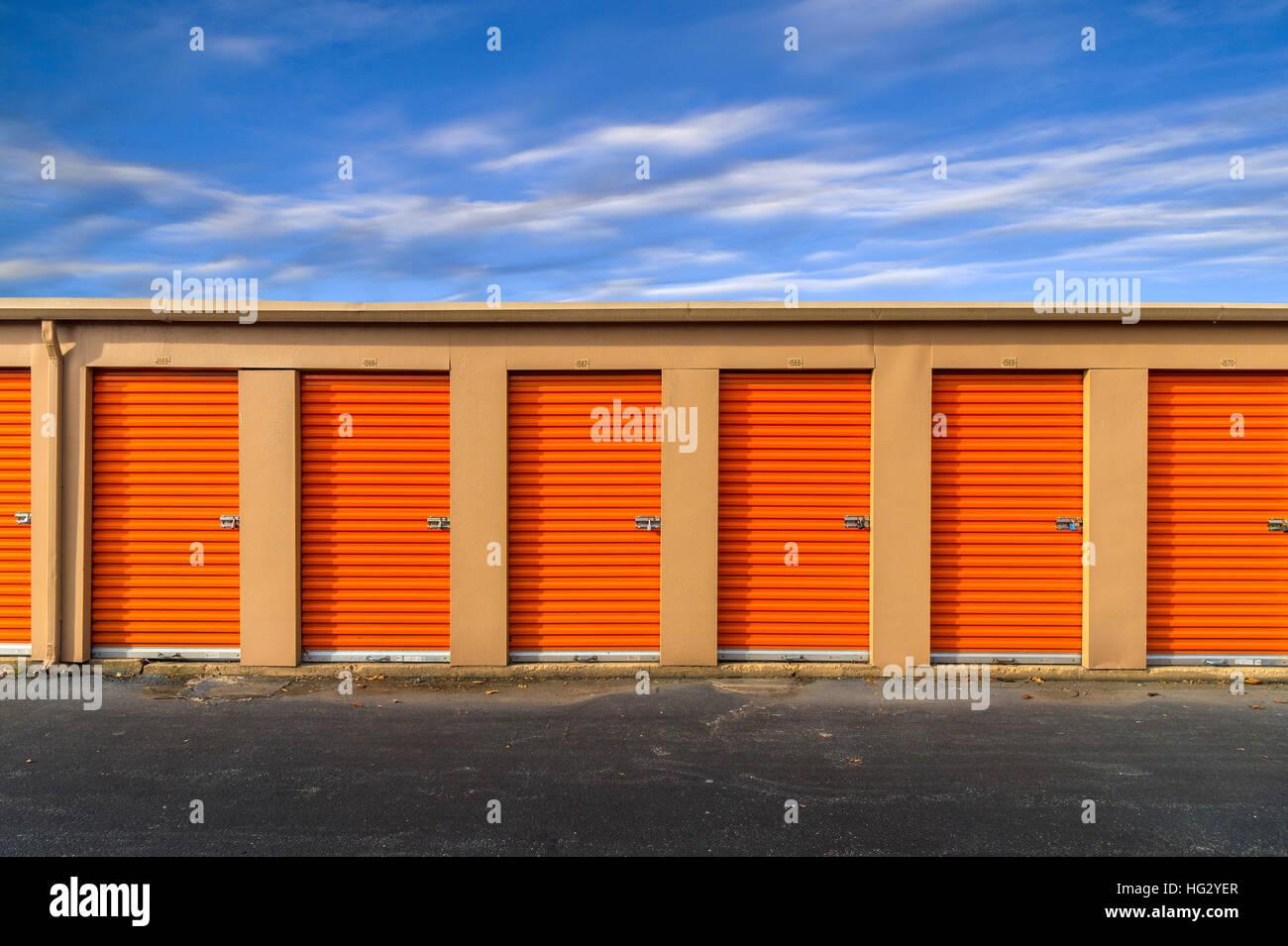 Self Storage Facility Stockbild