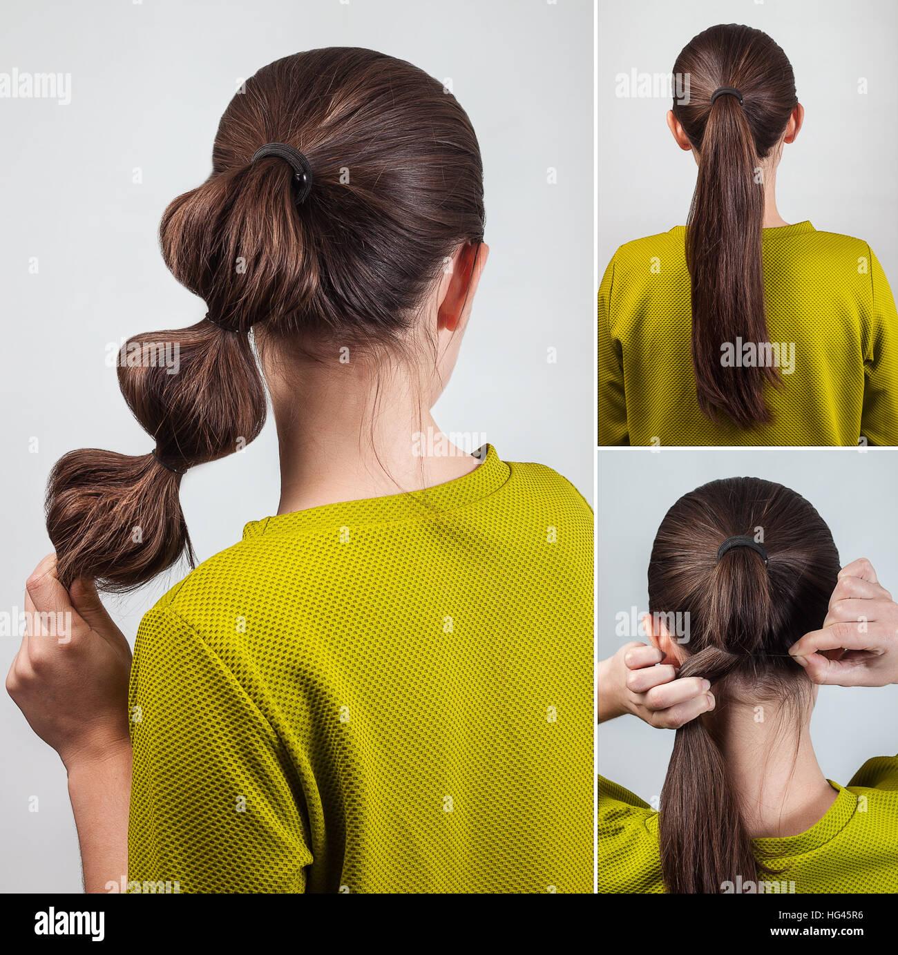 Einfache Casual Frisur Pferdeschwanz Mit Haargummi Tutorial