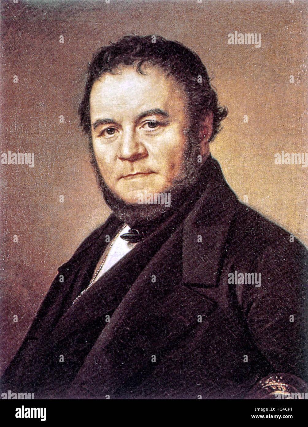 Stendhal, Marie-Henri Beyle, französischer Schriftsteller. Stockbild