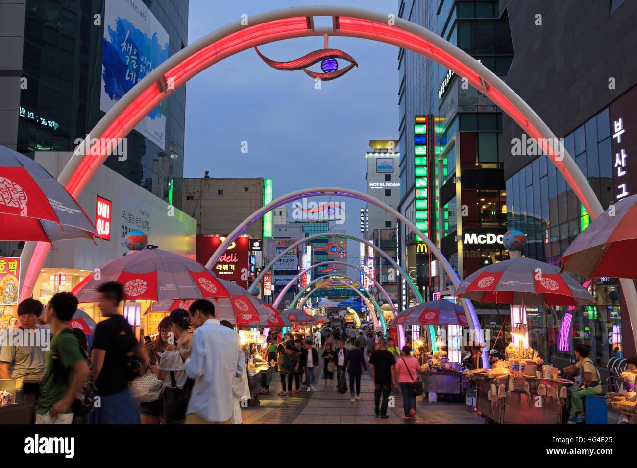 BIFF Square, Nampo District, Busan, Südkorea, Asien Stockbild