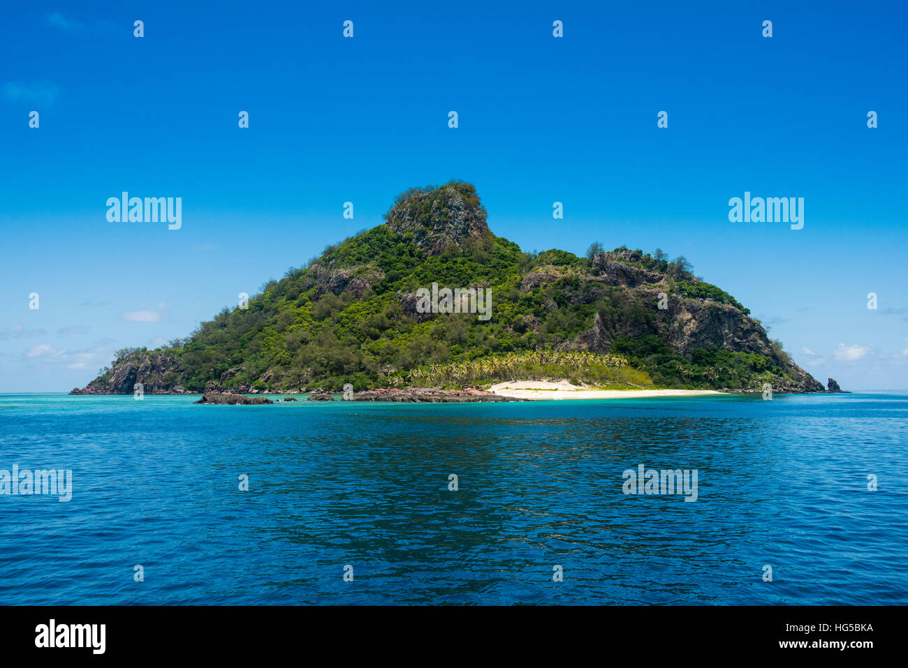 Monuriki (Cast Away Insel), Mamanuca Inseln, Fidschi, Südpazifik Stockbild