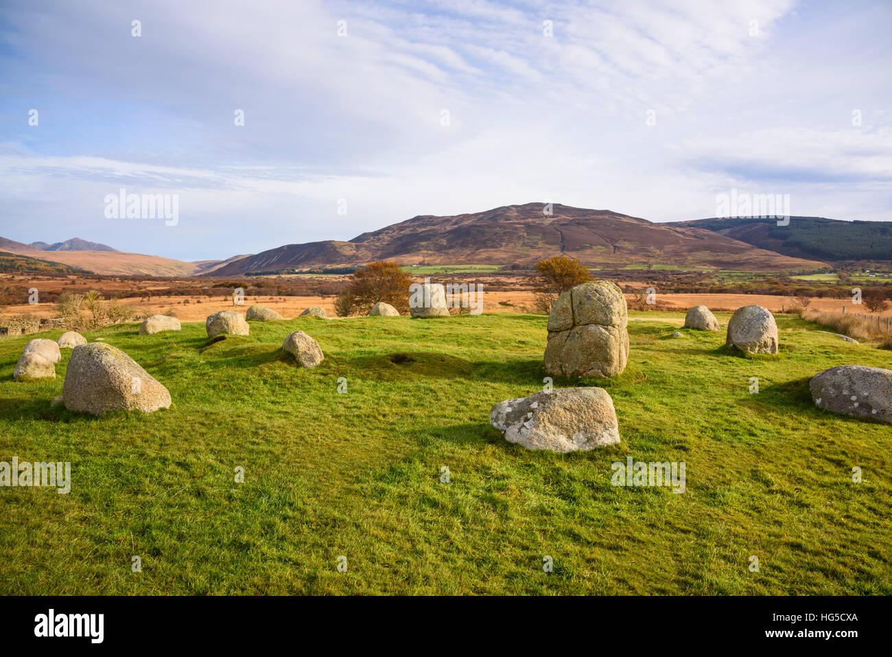 Fingals Kessel, Machrie Moor Stein Kreise, Isle of Arran, North Ayrshire, Schottland, Vereinigtes Königreich Stockfoto