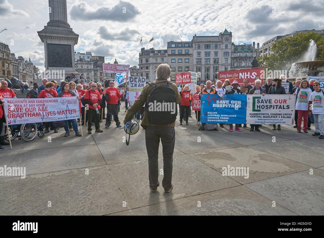nationalen Gesundheit Demonstration, London.   NHS Protest. Stockbild