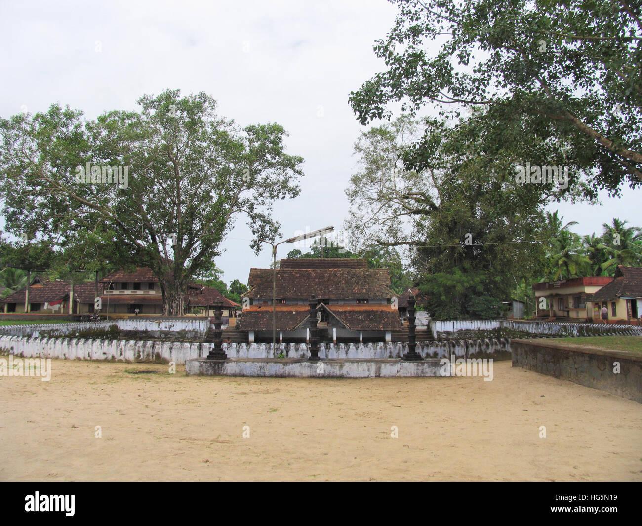 Long Shot von dharmashastra Tempel, tagari, Kerala, Indien Stockbild