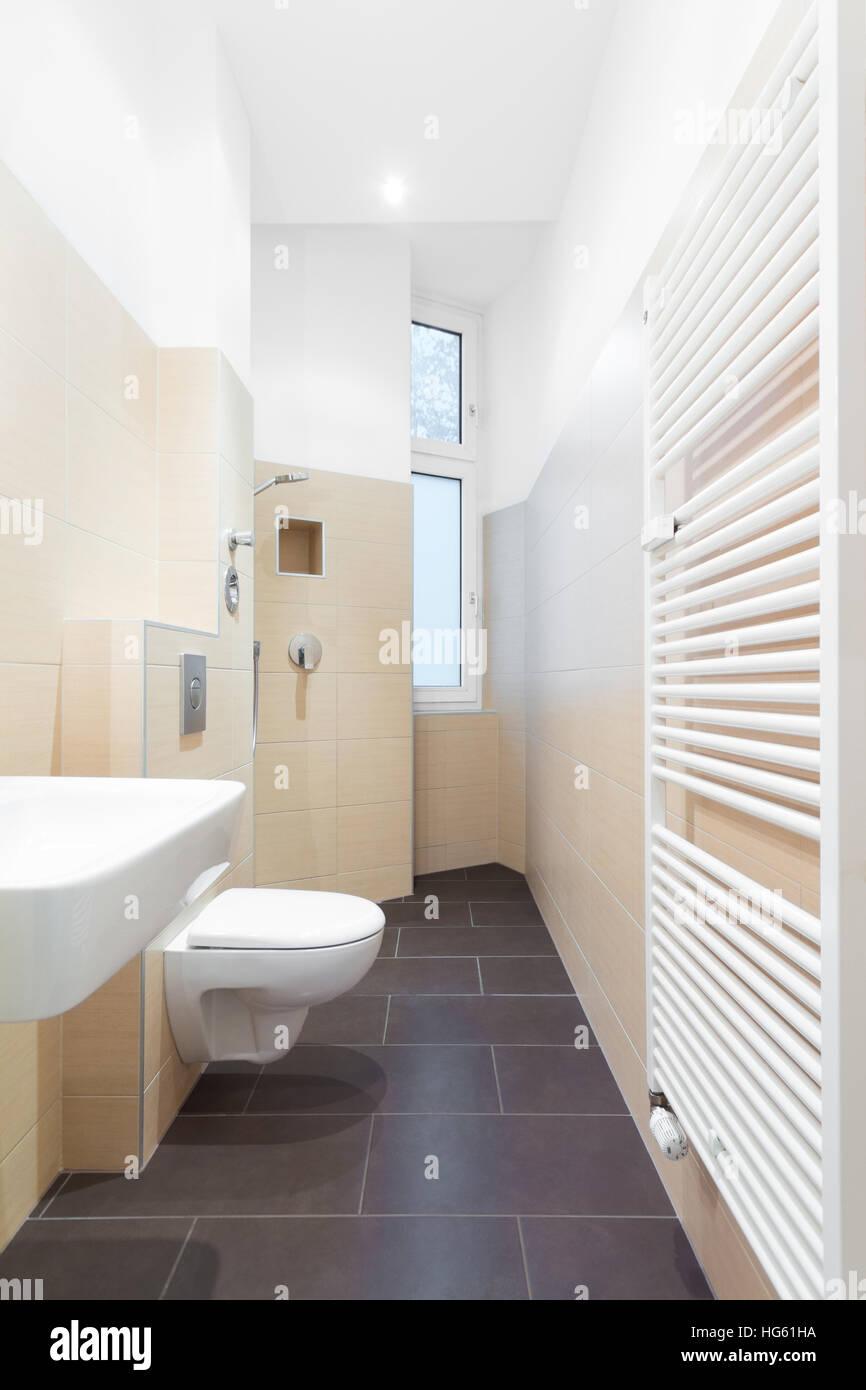 Modernes Badezimmer Moderne Dusche Gefliest Stockfoto Bild