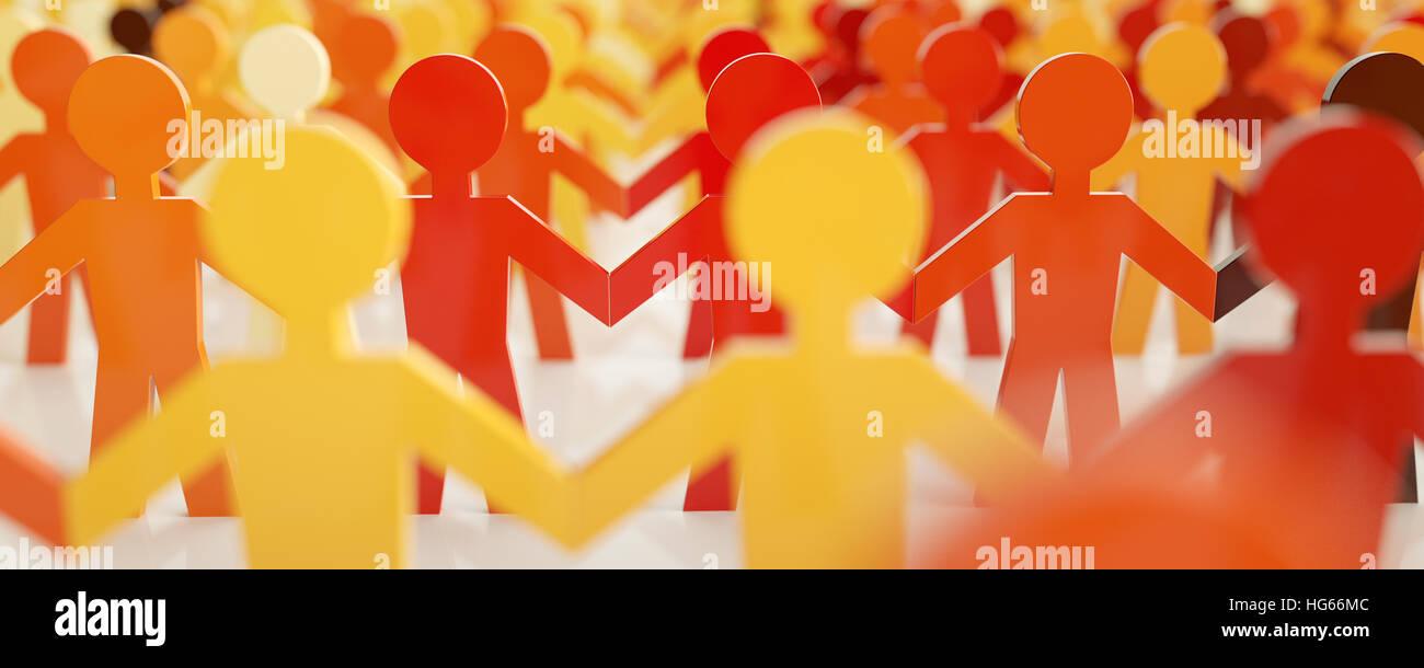 digitalen Menschen - Netzwerk-Konzept - 3D-Rendering Stockbild