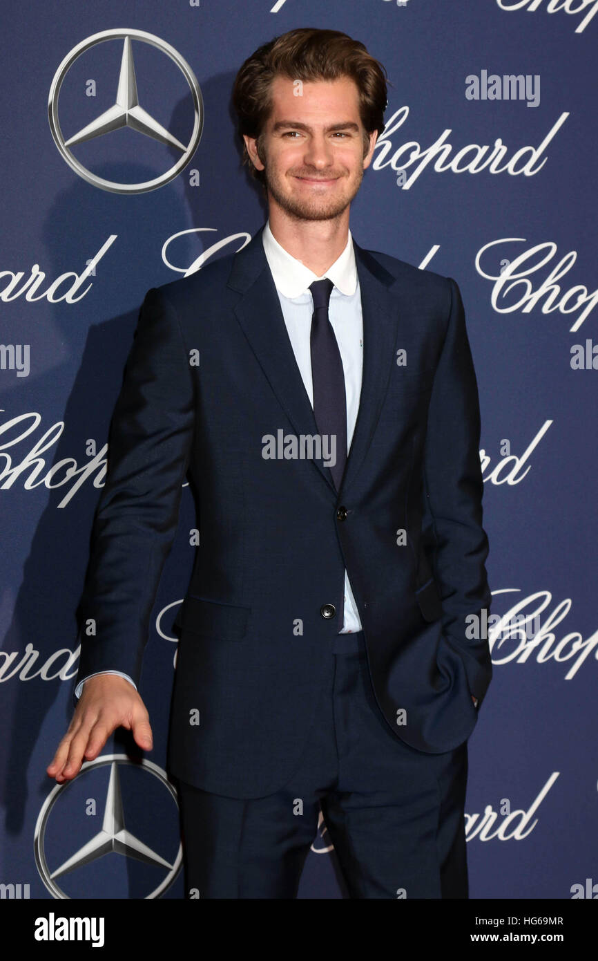 Palm Springs, Ca. 2. Januar 2017. Andrew Garfield in der 2017 Palm Springs International Film Festival Gala im Kongresszentrum Stockbild