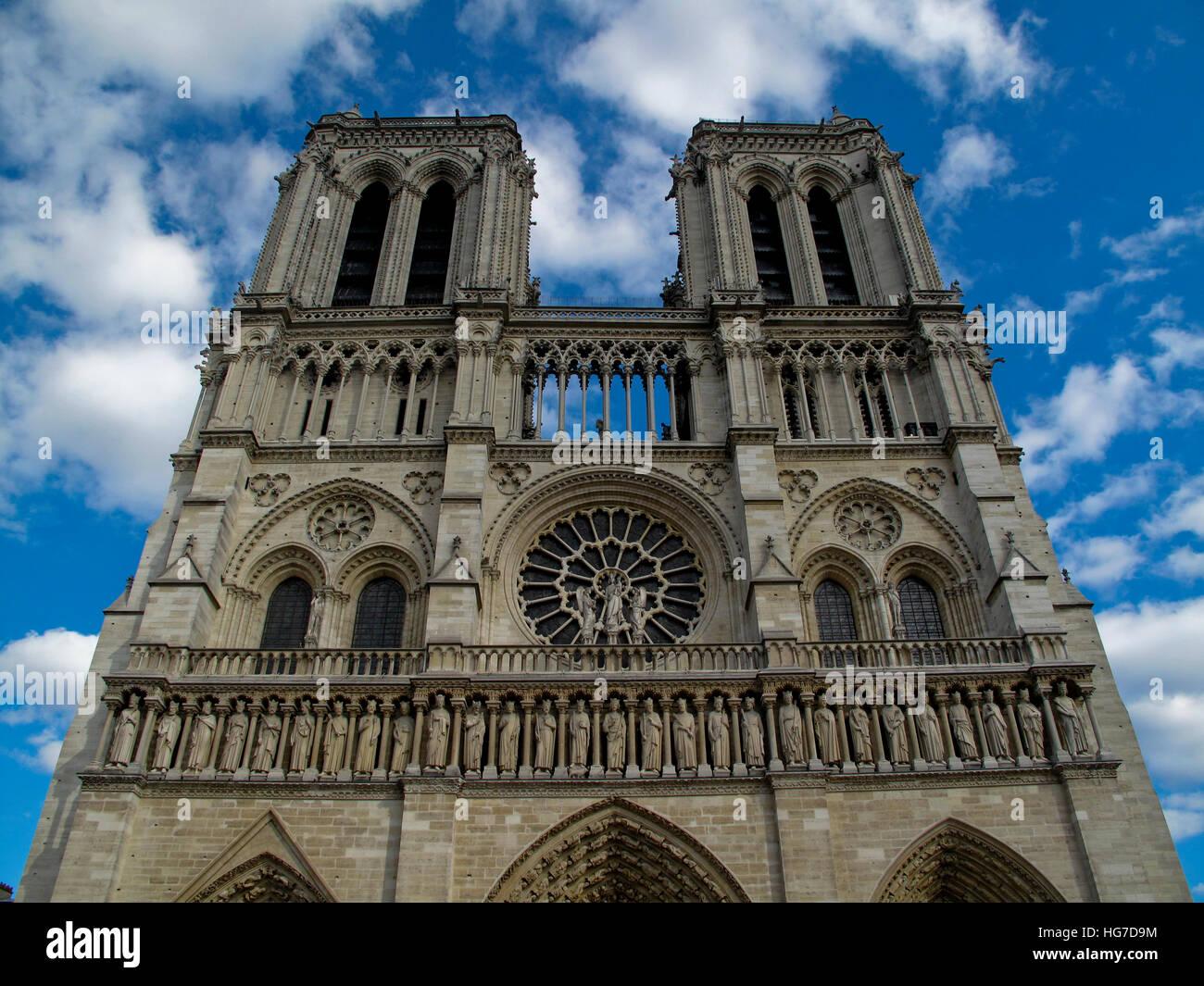 Unsere Liebe Frau von Paris Stockbild